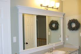 Decorate Bathroom Mirror - appealing framing bathroom mirrors with crown molding 64 in