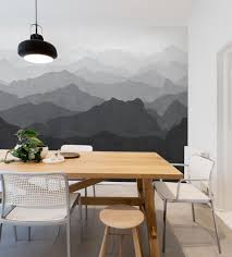 Dining Room Murals Mountain Mural Wall Art Wallpaper Peel And Stick
