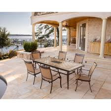 fontana 7 piece dining set with six stationary dining chairs and a home outdoor living outdoor dining sets fontana fontana 7 piece dining set with six stationary dining chairs and a large tile top table fntdn7pctn