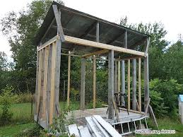 roofing and covering wood shed log store for your wood burning stove