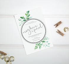 leafy green u2013 wedding invitation