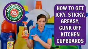 best thing to clean grease kitchen cabinets how to get the icky sticky greasy gunk kitchen cupboards murphy soap product review
