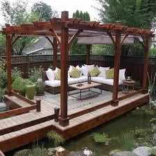 Pergola Lanterns by Outdoor Living Today 12x16 Breeze Pergola Retractable Canopy
