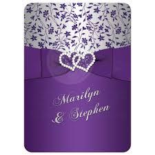 wedding anniversary invitations 25th wedding anniversary invitation purple silver floral