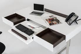 sharp modern white office desk