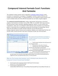 Compound Interest Calculator Spreadsheet Download Determination Of Percent Water In A Compound And