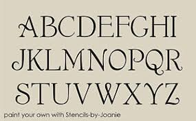 french chic alphabet stencil shabby font 2
