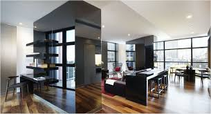 modern apartment furniture brown wooden kitchen storage cabinets