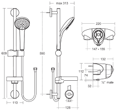 49 standard height shower valve ideal standard concept freedom standard height shower valve