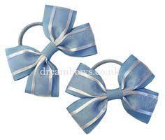 hair bows uk yellow and royal blue organza hair bows on thick bobbles www