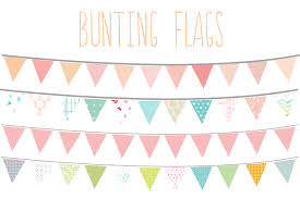 bunting flags clip art illustrations creative market