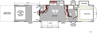 2015 R Pod Floor Plans by Xlr Nitro Travel Trailer U0026 Fifth Wheel Toy Haulers Floorplans