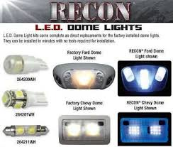 led interior light kits dome light ford superduty 99 12 recon led interior dome light kits