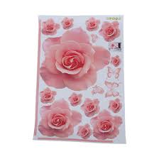 Rose Home Decor Rose Flower Pattern Removable Wall Sticker Decal Art Diy Home