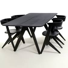 tom dixon slab dining table black houseology kitchen u0026 dining