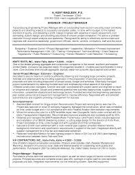 sample engineering management resume project management resume