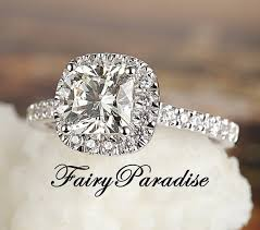 2 carat cushion cut diamond 2 carat cushion cut halo engagement ring bridal wedding ring
