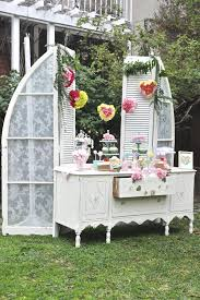 decoration garden party beautiful valentines day garden party white outoor vanity