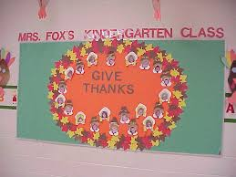 pilgrim give thanks bulletin board classroom teaching
