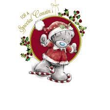 cousin christmas card me to you tatty teddy bear christmas cards