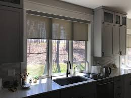 designer roller shades with decorative fabrics in cordless or