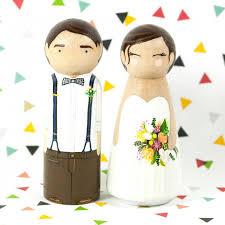 wedding cake topper peg cake topper peg dolls wood cake