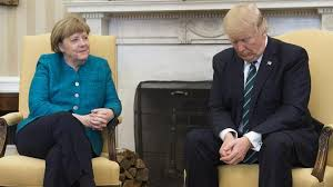 Trump In The Oval Office Trump Seems To Ignore Requests For Handshake With Merkel In The