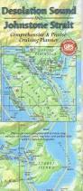 Desolation Wilderness Map Desolation Sound U0026 Johnstone Strait Cruising Planner Map