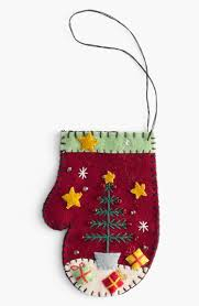 new world arts tree with presents mitten ornament available at