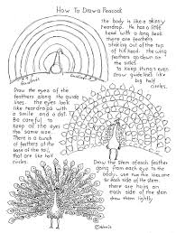 how to draw a peacock printable worksheet drawing howto