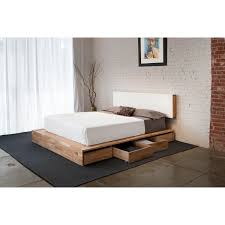 low profile bed natural brown wooden low profile bed combined with drawers also