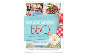 summer bbq flyer template word u0026 publisher