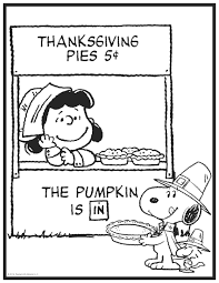 thanksgiving peanuts coloring page crafts pinterest peanuts