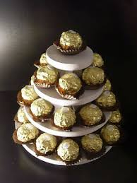 small 4 tier wedding ferrero rocher pyramid stand cake balls sweet
