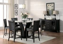 homelegance daisy 7pc round counter height table set in espresso