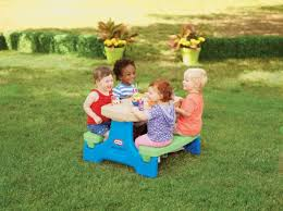 little tikes picnic tables toys little tikes easy store junior table blue neon green