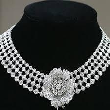 diamond studded diamond studded necklace diamond studded jewellery heera jadit