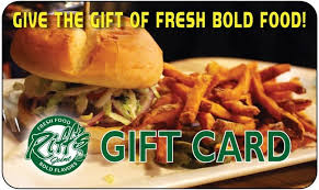 fast food gift cards gift cards riff s joint restaurant and the hideaway lounge