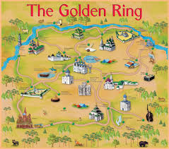 Moscow Russia Map Golden Ring