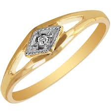 childrens gold jewelry children diamond ring in 10kt yellow and white gold 02ct