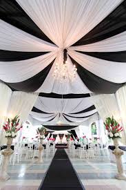 Ceiling Draping For Weddings Diy Black And White Wedding Ideas White Ceiling Ceilings And Satin