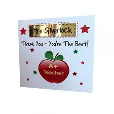 thank you cards for teachers personalised card personalised thank you card