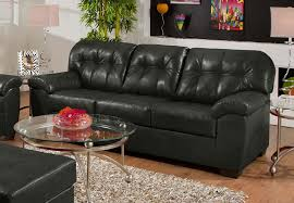 Simmons Sleeper Sofa by Simmons Soho Onyx Showtime Breathable Leather Queen Sleeper Sofa