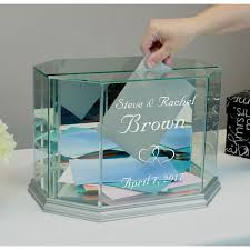 personalized box buy glass wedding card box personalized octagon money box online