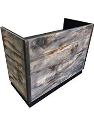 Wood Reception Desk Amazon Com 8 Foot Memphis Reception Desk Made With Reclaimed Wood