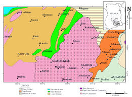 Accra Ghana Map Hydrochemical And Isotopic Characterisation Of Groundwaters In The