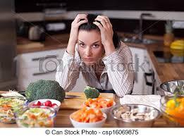 femme en cuisine déprimé femme cuisine triste déprimé femme image