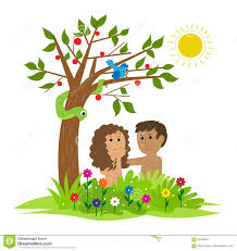 adam and eve stock vector image 83440847