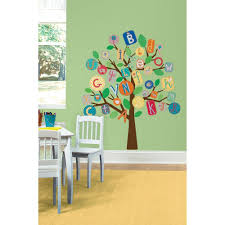 27 in x 40 in abc primary tree 56 piece peel and stick giant null 27 in x 40 in abc primary tree 56 piece peel and