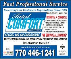Total Comfort Control Air Conditioning U0026 Heating Contractors Gwinnett County